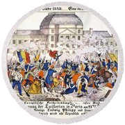 France Revolution, 1848 Round Beach Towel