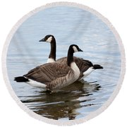 Geese Round Beach Towel