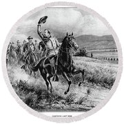 George Armstrong Custer (1839-1876) Round Beach Towel