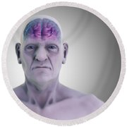 Geriatric Brain Round Beach Towel