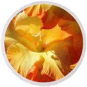 Gladiolus Named Halloween Round Beach Towel