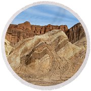 Golden Canyon Death Valley National Park Round Beach Towel
