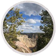 Grand Canyon Of Yellowstone Round Beach Towel