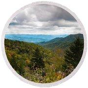 Great Smoky Mountains Round Beach Towel