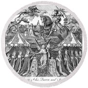 Henry V (1387-1422) Round Beach Towel