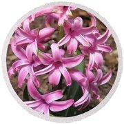 Hyacinth Named Pink Pearl Round Beach Towel