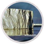 Iceberg In The Ross Sea Antarctica Round Beach Towel