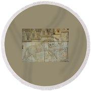 Iran Persepolis Round Beach Towel