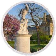 Jardin Des Tuileries Round Beach Towel