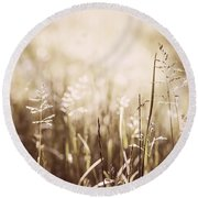 June Grass Flowering Round Beach Towel