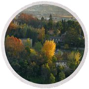 The Alhambra Palace Round Beach Towel