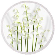 Lily-of-the-valley Flowers  Round Beach Towel