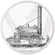 Locomotive Rocket, 1829 Round Beach Towel