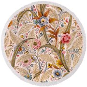 Marble End Paper  Round Beach Towel
