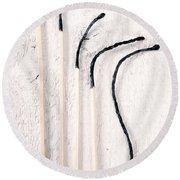 Matches Round Beach Towel by Joana Kruse