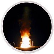 Minuteman IIi Missile Test Round Beach Towel