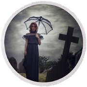 Mourning Round Beach Towel by Joana Kruse