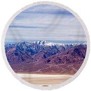 Natural Bridge Canyon Death Valley National Park Round Beach Towel