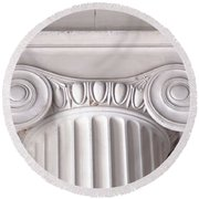 Neoclassical Ionic Architectural Details Round Beach Towel