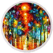 Night Park Round Beach Towel