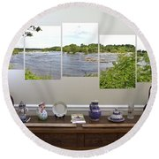 5-panel - James River Round Beach Towel