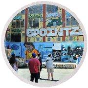 5 Pointz Graffiti Art 3 Round Beach Towel