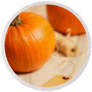 Pumpkins Round Beach Towel