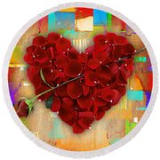 Roses Collection Round Beach Towel