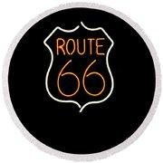 Route 66 Edited Round Beach Towel