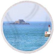 Saint-malo - Brittany Round Beach Towel