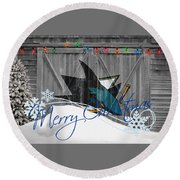 San Jose Sharks Round Beach Towel