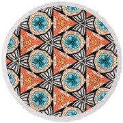 Seamlessly Tiled Kaleidoscopic Mosaic Pattern Round Beach Towel