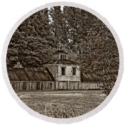 5 Star Barn Monochrome Round Beach Towel