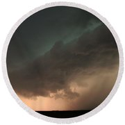 Stong Nebraska Supercells Round Beach Towel
