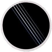 5 Strings Of Light Round Beach Towel
