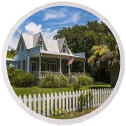 Sullivan's Island Tin Roof Story Book Cottage Round Beach Towel