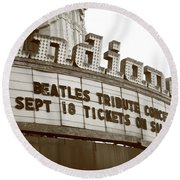 Terre Haute - Indiana Theater Round Beach Towel