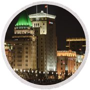 The Bund, Shanghai Round Beach Towel