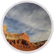 The Castle, Capitol Reef National Park Round Beach Towel