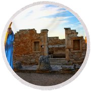 The Palaestra - Apollo Sanctuary Round Beach Towel