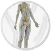 The Skeleton Female Round Beach Towel