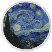 The Starry Night Round Beach Towel