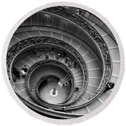 The Vatican Stairs Round Beach Towel