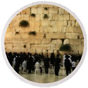 The Wailing Wall Round Beach Towel