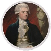 Thomas Jefferson Round Beach Towel by War Is Hell Store