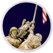 Us Marine Corps Memorial Round Beach Towel