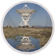 Very Large Array Round Beach Towel