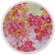 Together Again Watercolor Photography Round Beach Towel