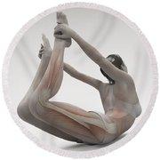Yoga Bow Pose Round Beach Towel