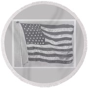 50 Stars 13 Stripes Round Beach Towel